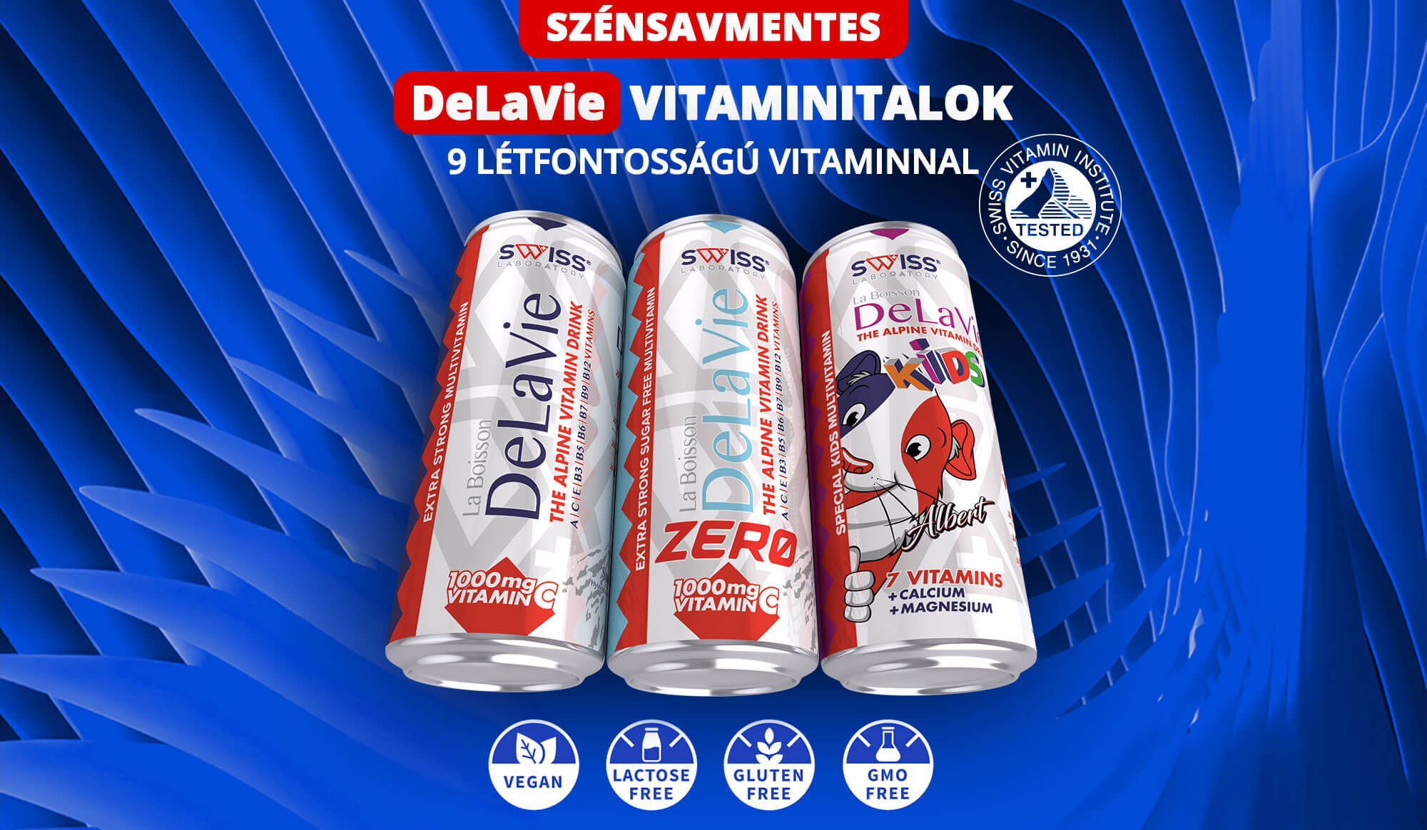 Delavie szénsavmentes vitaminitalok