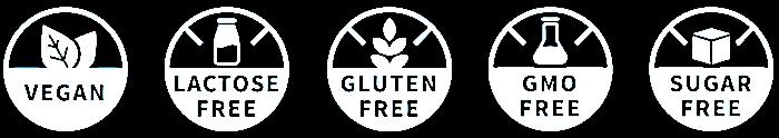 laktózmentes cukormentes gluténmentes gmo mentes